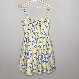 JUICY COUTURE floral brocade fit and flare dress